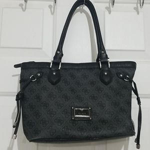 Guess Small Dark Grey Monogram Bag